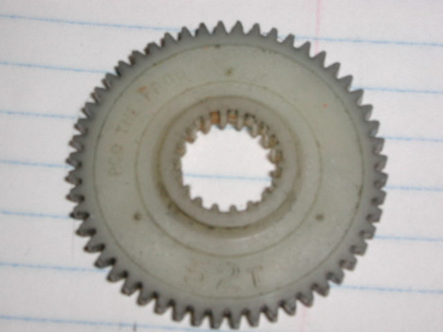 Original Tamiya Frog 52T Counter Gear
